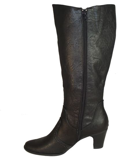 boots for big leg adjustable calf wide leg fit boots black ebay