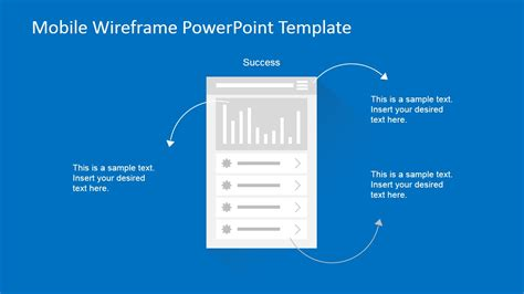 Mobile Wireframe Powerpoint Template Slidemodel Mobile Wireframe Template