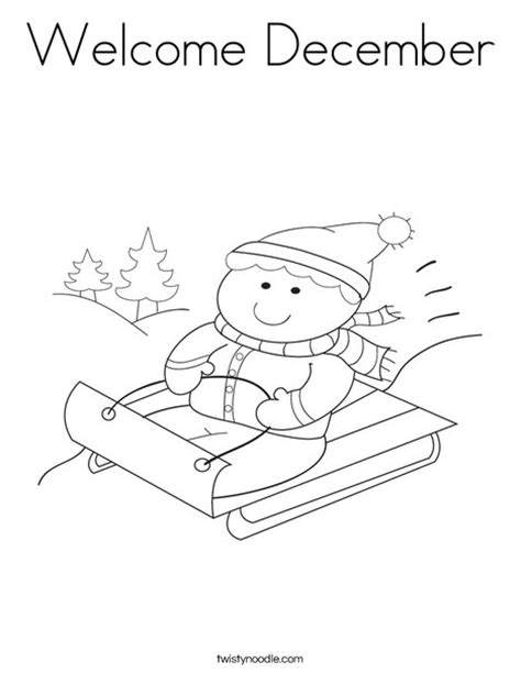 welcome december coloring pages welcome december coloring page twisty noodle