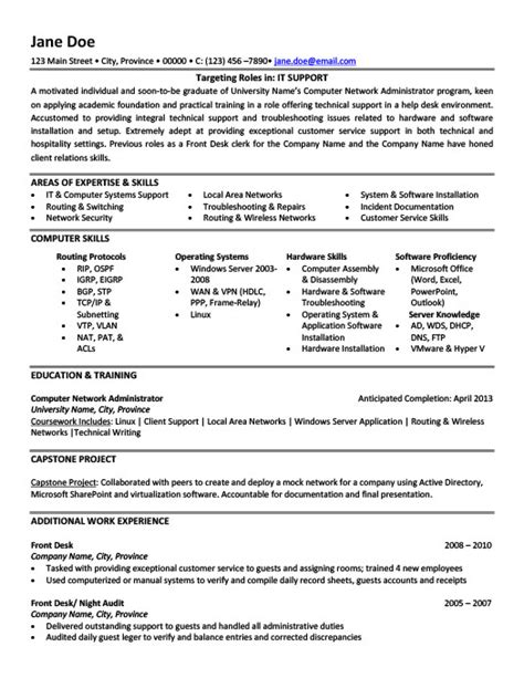 It Support Resume by It Support Resume Template Premium Resume Sles Exle