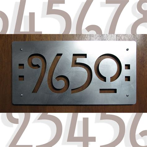 house number custom mission style house numbers in stainless steel