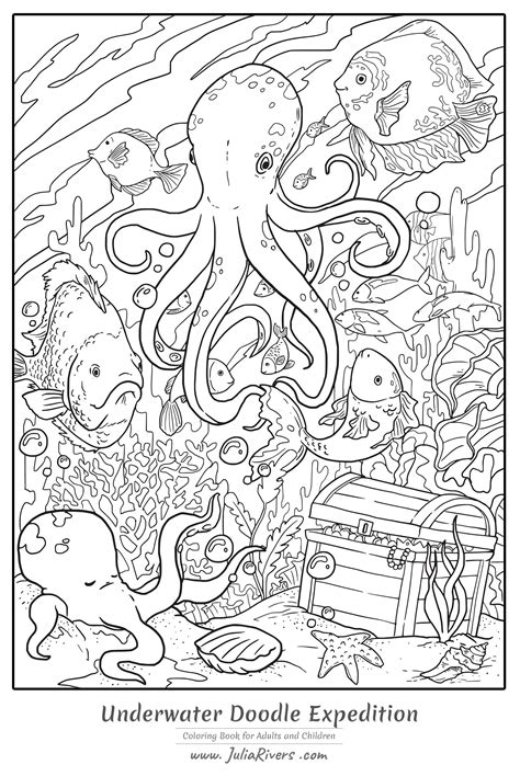 coloring page for octopus coloring pages for adults