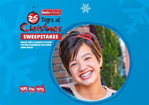 Radio Disney Sweepstakes 2017 - radio disney 25 days of christmas sweepstakes