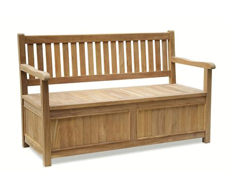 melrose teak 5ft garden storage bench