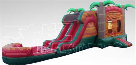 bounce house rentals orlando tropical fiesta breeze bounce house w dual lane water slide pool water slides