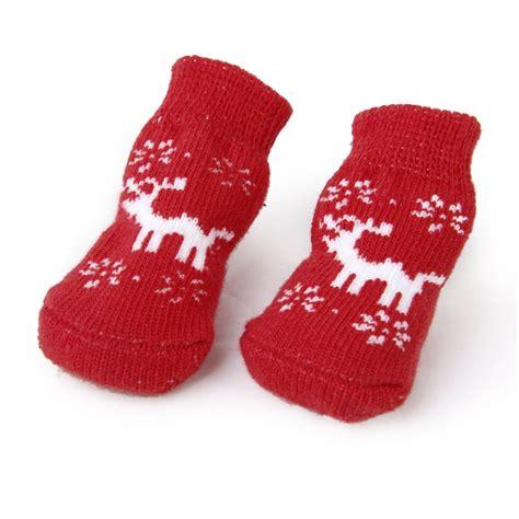 diy traction socks for dogs cat paw protection reindeer non slip socks