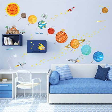 Toddler Wall Stickers 10 space themed wall decals for curious little explorers