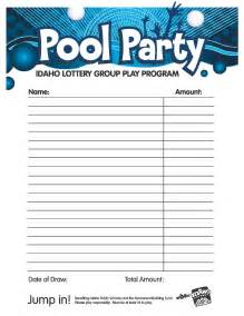 office lottery pool contract template pool idaho lottery