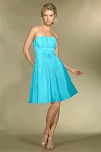 Strapless blue bridesmaid dresses elite wedding looks