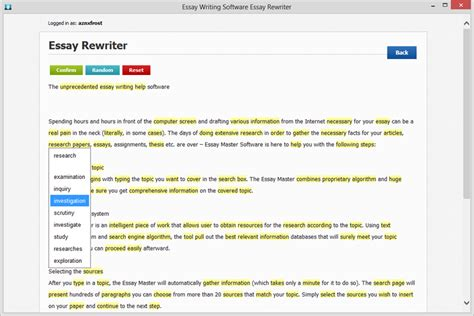 Essay Rewriting Tool by Essay Paraphrase Rewrite Tool Screenshot X 64 Bit