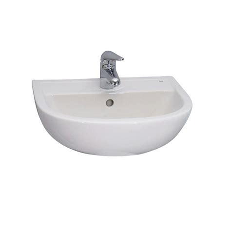 barclay products compact 450 wall hung bathroom sink in