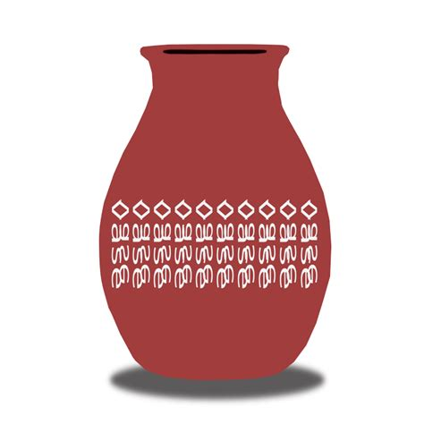 Black And Red Vase Free Simple Red Vase Clip Art