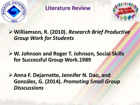 Project Brief Literature Review by Ed401 Project Ppt