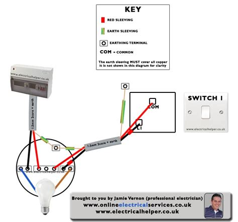 electrical helper wiring a 1 way light switch