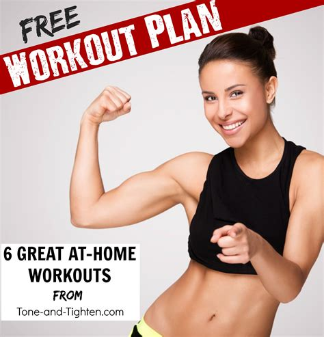free at home workout plan tone and tighten
