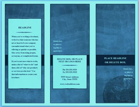 free booklet templates for word blank free brochure templates for word