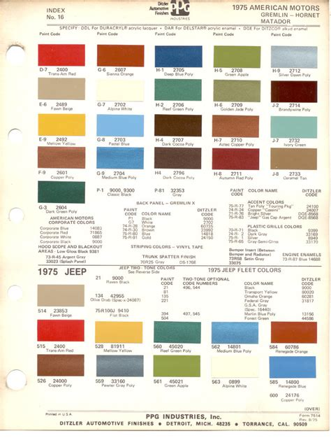100 nason paint code cross reference paint chip book ebay amc paint chips ta bay amc