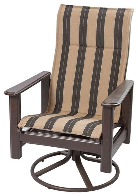 high back rocking chair outdoor hton marine grade polymer high back swivel rocker