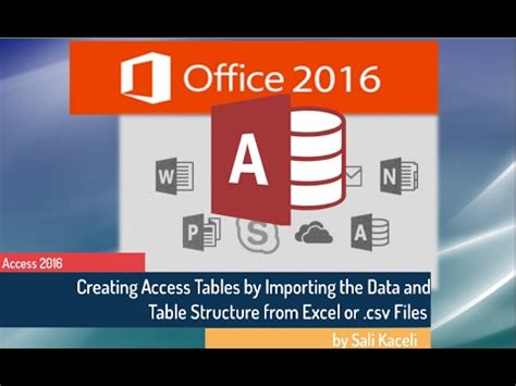 excel tutorial by sali kaceli microsoft access 2016 tutorial creating tables by