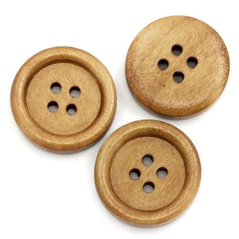 I Am Buttons 25 brown wooden buttons 20mm 4 wood button