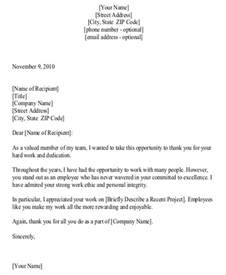 Thank You Letter For Team Performance Sample Thank You Letter To Employees 7 Examples In Word
