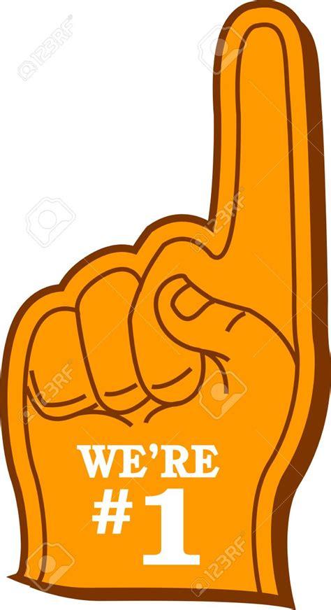 Kfeds Number One Fan by 1 Fan Foam Finger Clipart Clipartxtras