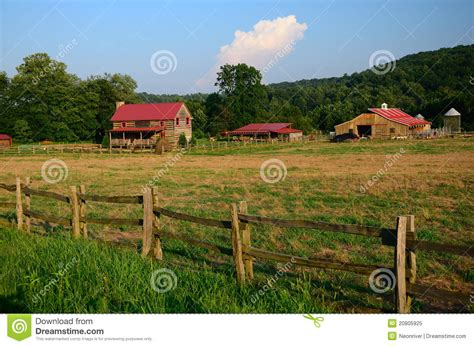 Country Farm House Plans Rustic Farm Royalty Free Stock Photo Image 20805925