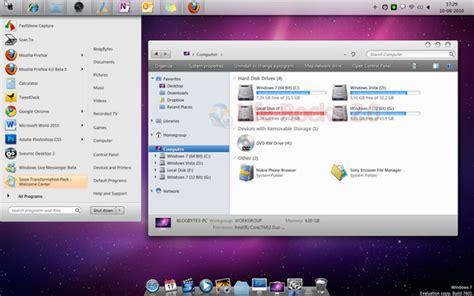 Machintosh Plus Trafomator snow transformation pack l interface de mac os x sur windows 7