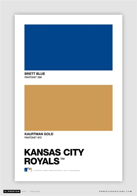 kansas city royals colors color swatch baseball pantone chips of every mlb team s