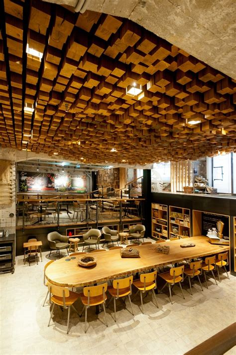 home design store amsterdam wood block ceiling art interior design ideas