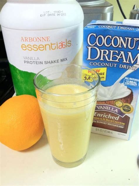 Arbonne Detox Tea Cold Brew by Orange Dreamsicle Protein Shake Freshly Squeezed Oranges