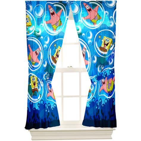 spongebob curtains walmart spongebob playful bubble microfiber drape walmart com