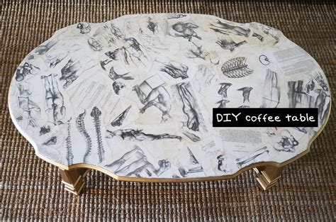 decoupage newspaper diy decoupage coffee table furniture design tutorial