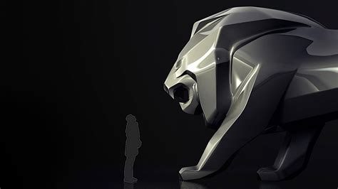 peugeot lion giant peugeot lion to scare people away at the 2018 geneva