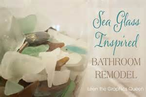 sea glass bathroom ideas hometalk our sea glass inspired beach bathroom remodel