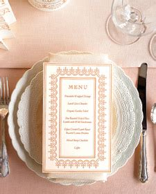 printable wedding planner martha stewart menu template martha stewart weddings