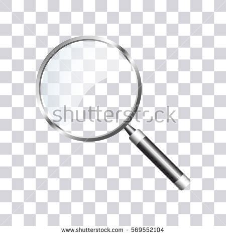 How To Search Background Search Icon On Transparent Background Magnifying Stock Vector 569552104
