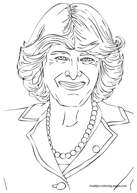 coloring pages royal family prince diana free colouring pages