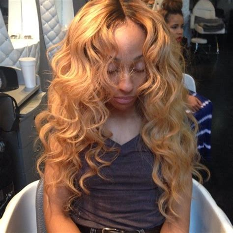 sew in hairstyles brown hair 17 best images about black women blonde hair on pinterest