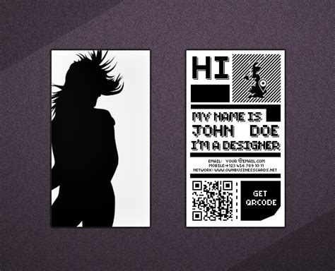 business card with qr code template 35 quality business card design templates for free