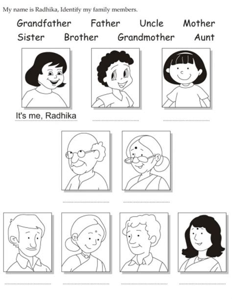worksheets for preschool about family my family activities for preschool para colorear buscar