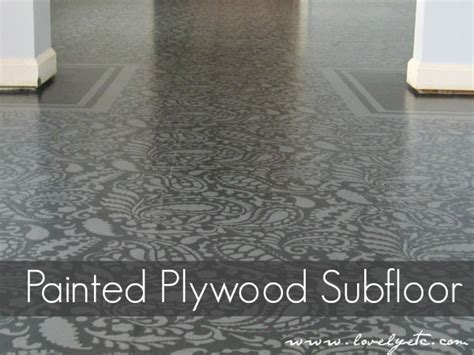 How To Paint & Stencil Your Floors   Do It Yourself Fun Ideas