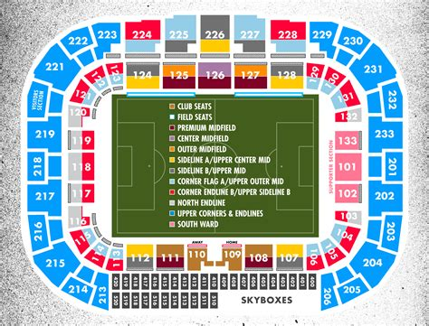 seating section seating map new york red bulls