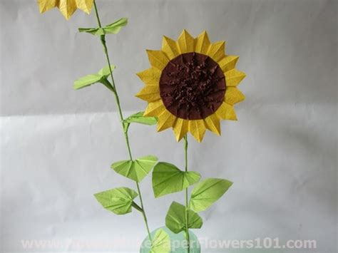 Origami Sunflower Step By Step - origami sunflower how to make paper flowers