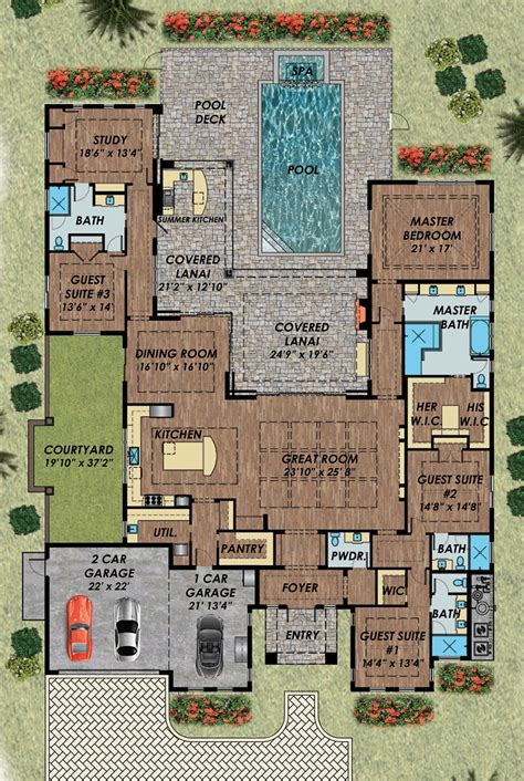 pool home plans best 25 house plans with pool ideas on one