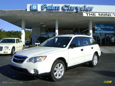 subaru outback white 2008 satin white pearl subaru outback 2 5i wagon 2128742