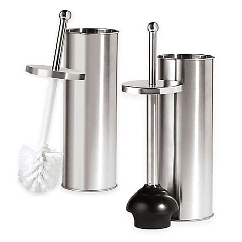 Oggi Stainless Steel Toilet Accessories Bed Bath Beyond Stainless Bathroom Accessories