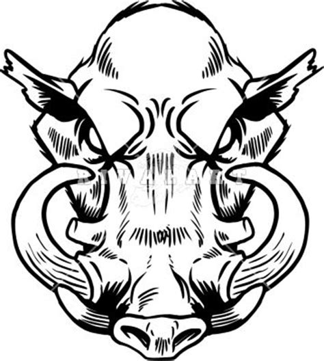 tribal boar tattoo boars front new ideas