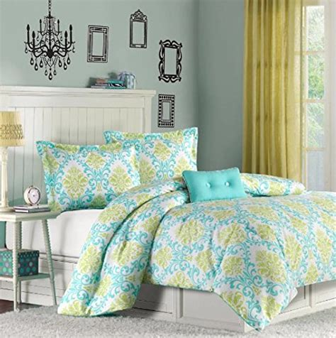 cute girly comforter sets 4 blue damask comforter set pretty multi floral bedding girly all