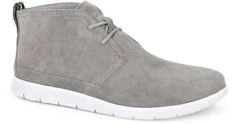 mens grey chukka boots ugg freamon suede chukka boots in gray for grey lyst